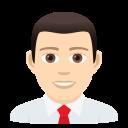 Download Man Office Worker Light Skin Tone Emoji By Joypixels